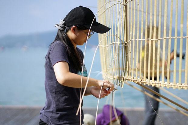 Em Taiwan, artista cria instalação inspirada em armadilha para peixes (Foto: Divulgação)