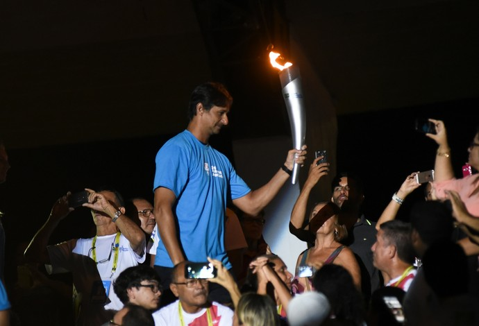 Ricardo fez parte da cerimônia de abertura dos Jogos da Juventude (Foto: Saulo Cruz/Exemplus/COB)