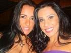 Ex-affair de Tony Salles e Scheila Carvalho aparecem juntas em foto