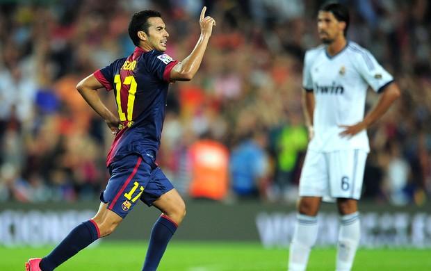 Pedro, Barcelona x Real Madrid (Foto: Agência AFP)