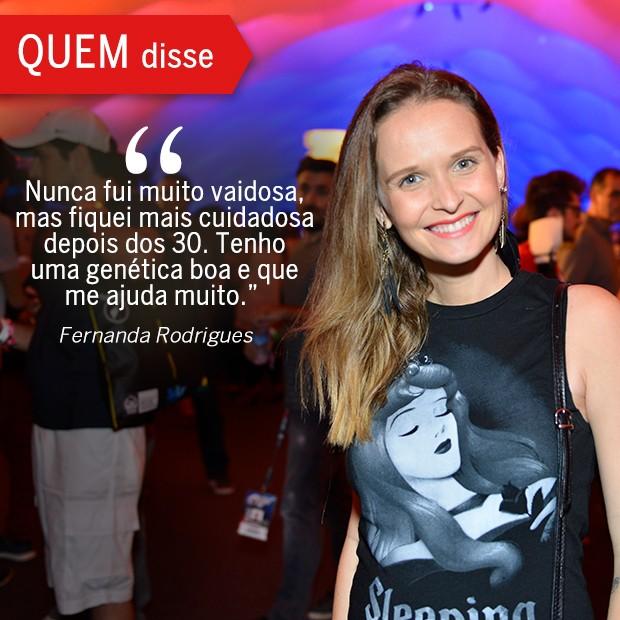 QUEM Disse: Fernanda Rodrigues (Foto: Reprodução/ Revista QUEM)