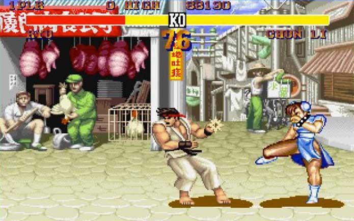 Street Fighter 2 na época dos fliperamas (Foto: Divulgação/Capcom)