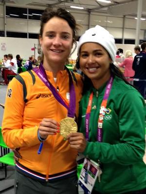 Marianne Voz e Clemilda Fernandes em Londres (Foto: Arquivo Pessoal)