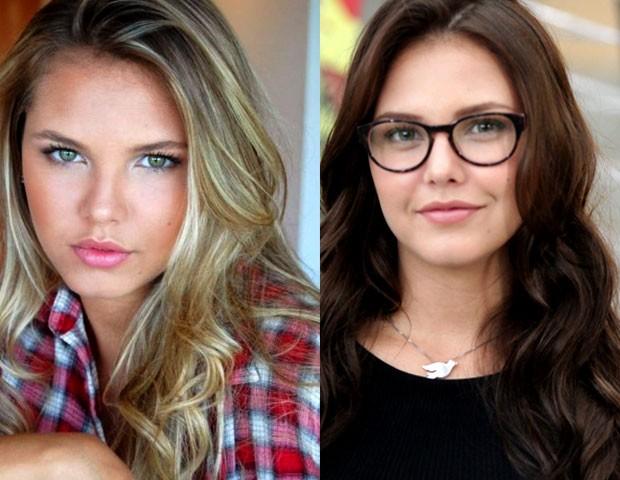 Antes gata e depois também! Vocês gostaram mais da Louise de cabelo claro ou escuro? (Foto: Foto (da esquerda):  Arquivo Pessoal)