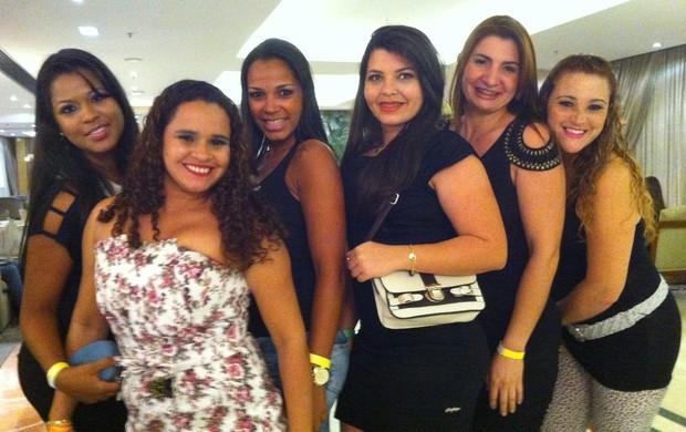 mulheres evento hotel atlético (Foto: Pedro Veríssimo / Globoesporte.com)