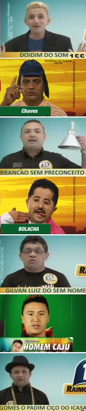 Candidatos usam bordão do Tiririca no Ceará (Foto: Horário Eleitoral/Reprodução)