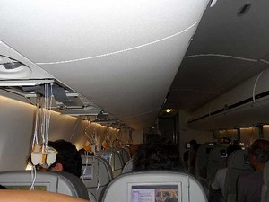 Piloto libera máscaras de oxigênio em voo entre Salvador e Campinas após pane (Foto: José Carlos Araujo/VC no G1)
