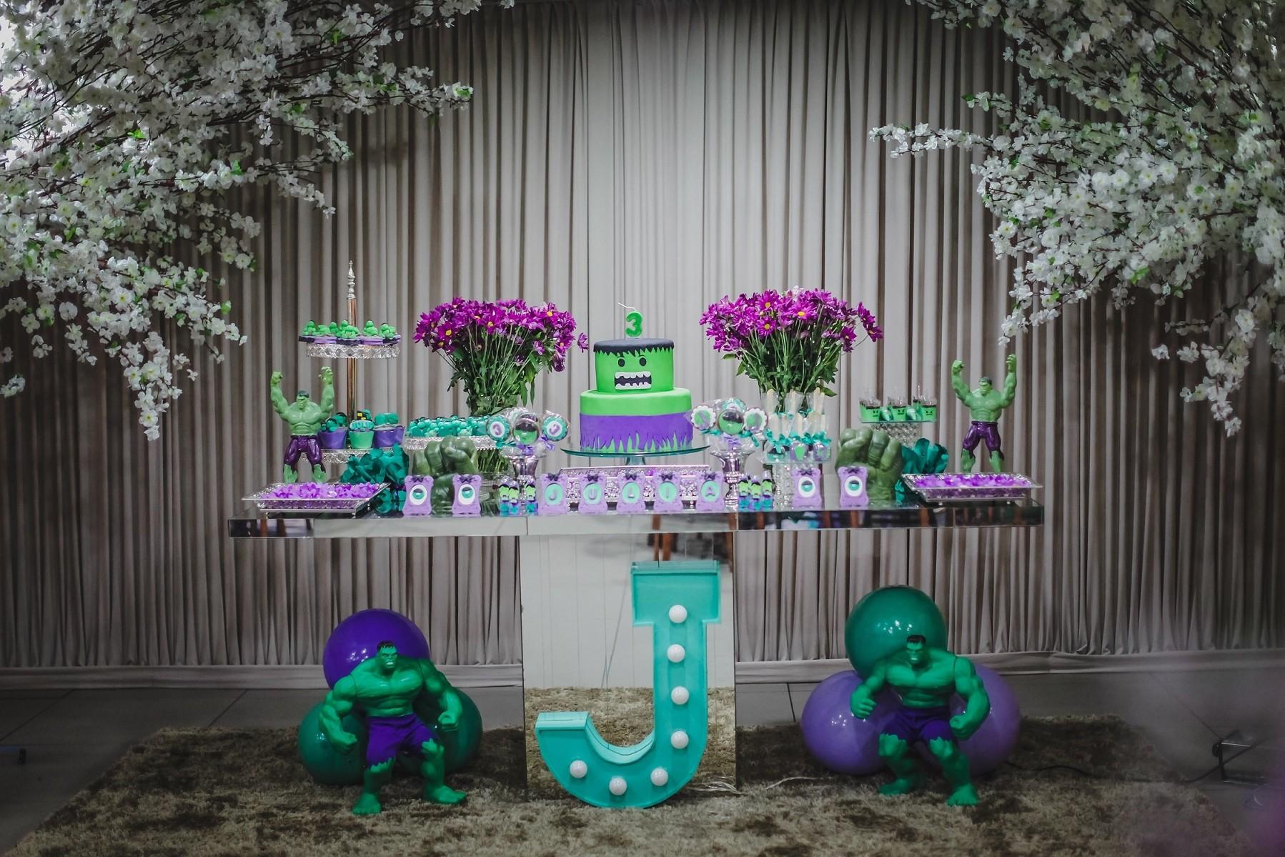 A mesa decorada para a festa (Foto: Arquivo pessoal)