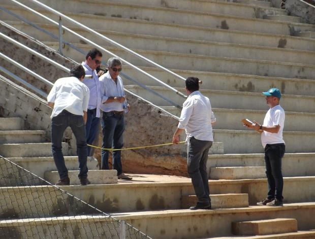 Vistoria Barretão (Foto: Arthur Barbalho)