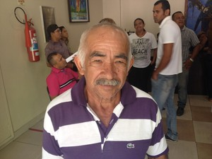 Raimundo Nonato, de 65 anos, agricultor. (Foto: Dyepeson Martins/G1)