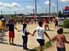 Manifestantes fazem ato pró-Dilma na Zona Leste de Manaus