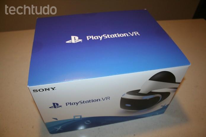 Visão superior da caixa do PS VR -com marca (Foto: Felipe Vinha/Techtudo )