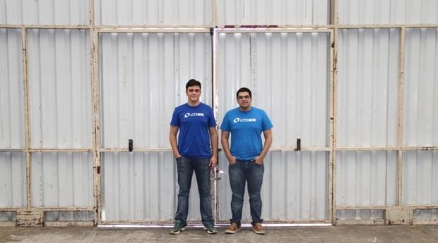 Eduardo Roquette e Luiz Gomes: eles querem inovar no setor de contêineres com a Lotebox (Foto: Fabiano Candido)