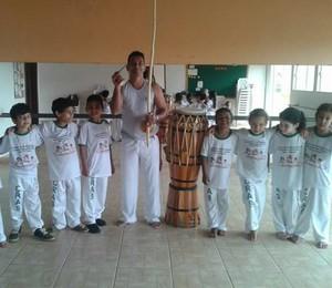Projeto União e Ginga José Elias Ribeiro Filho Abaeté Capoeira - 01 (Foto: José Elias/Arquivo Pessoal)