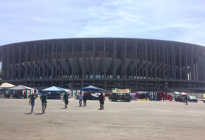 Estádio Mané Garrincha, Brasília, Flamengo x Palmeiras (Foto: Felipe Zito)