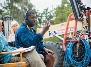 O diretor Steve MacQueen no set de filmagem (Foto: Jaap Buitendijk/divulgação)