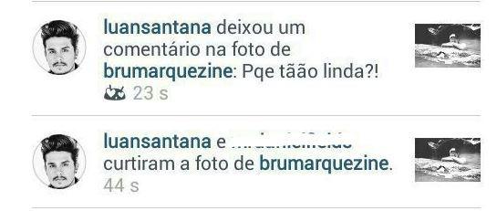 Luan Santana comenta em foto de Bruna Marquezine (Foto: Instagram / Reprodução)