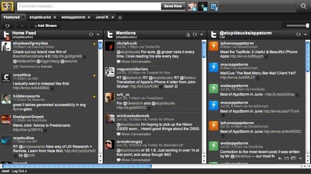 Tela da plataforma Hootsuite (Foto: Reprodução)
