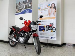 Moto será sorteada a associados da CDL em Divinópolis (Foto: CDL/Divulgação)