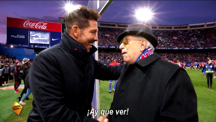 Atlético de Madrid Simeone homenagem sócios