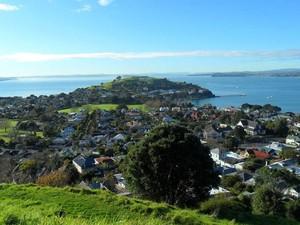 O Mount Victoria, na Nova Zelândia, oferece uma vista privilegiada da cidade de Auckland (Foto:  Júlio Cesar Ferreira/VC no G1)