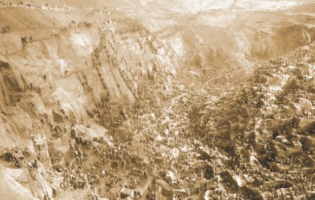 Milhares de homens viveram a febre do ouro na antiga Serra Pelada... (Foto: Carlos Chicarino/ Estadão conteúdo)