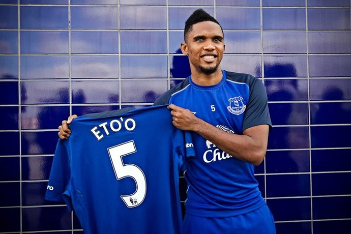 Samuel Eto'o Everton apresentação (Foto: Reprodução / Facebook)