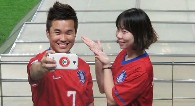 torcedores Brasil x Coreia (Foto: Márcio Iannaca)