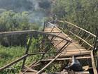 Ponte é alvo de vandalismo e tem trecho queimado em Porto Velho