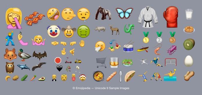Novos emoji da Unicode já podem ser usados na versão web do Twitter (Foto: Reprodução/Emojipedia)
