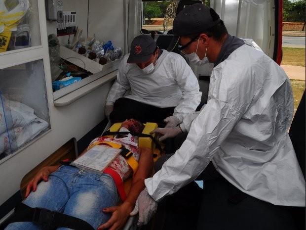 Simulação foi coordenada pelo Corpo de Bombeiros de Sorocaba (Foto: Divulgação / Corpo de Bombeiros de Sorocaba)