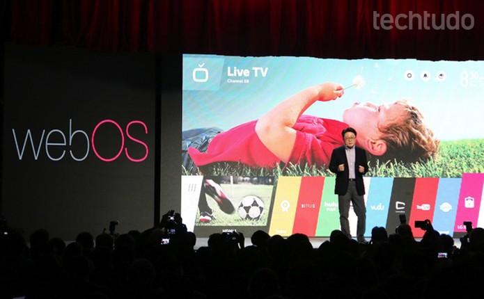 LG aposta no WebOS em suas próximas SmartTVs (Foto: Fabrício Vitorino / TechTudo)