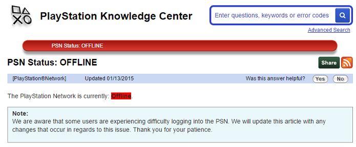 PSN apresentou novamente problemas nesta terça-feira (Foto: Reprodução/Thiago Barros)