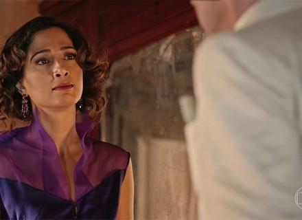 Tereza encara Afrânio e diz que Miguel é fruto de seu amor com Santo