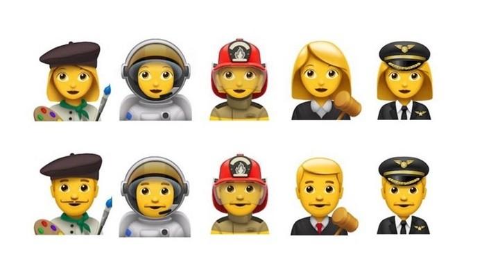Apple deseja adicionar cinco emojis de profissão