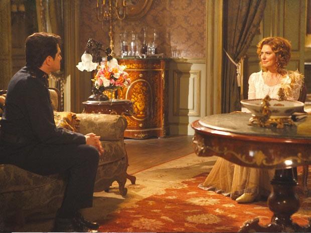 Constância usa de todo seu prestígio para acabar com Isabel (Foto: Lado a Lado/TV Globo)
