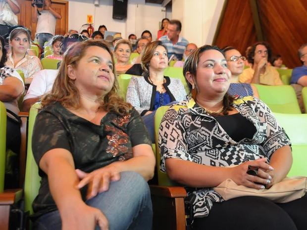 Elenira Mendes em evento em homenagem a Chico Mendes (Foto: Diego Gurgel/Arquivo Pessoal)