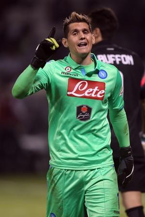 Rafael Cabral, goleiro Napoli (Foto: AP)