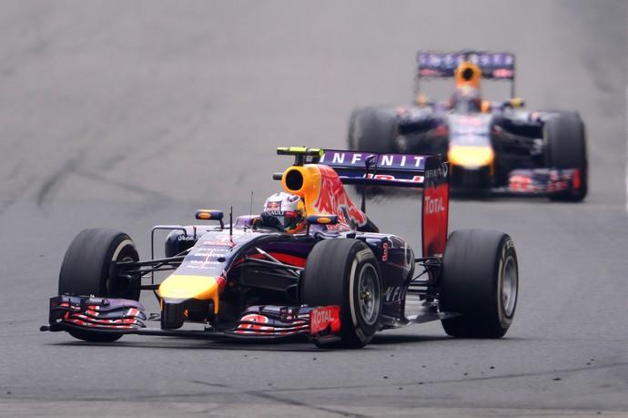 Daniel Ricciardo tem ofuscado Sebastian Vettel com frequência em 2014 (Foto: Getty Images)