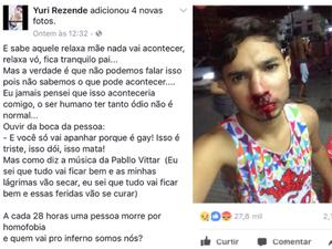 Postagem das agressões nas redes sociais teve repercussão (Foto: Reprodução/Facebook)