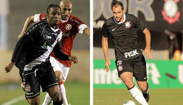 Futebol 2012 (Foto: Marcelo Sadio/vasco.com.br / Divulgação site oficial Corinthians / agenciacorinthians.com.br)