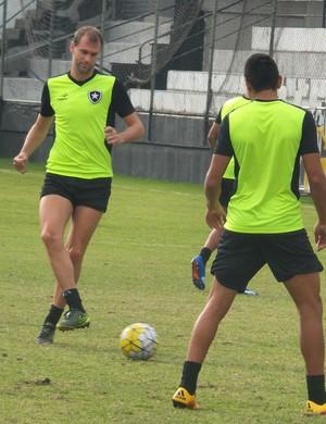 Carli treina na manhã de sábado em General Severiano (Foto: Twitter oficial do Botafogo)