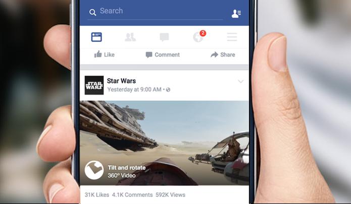 Vídeos em 360º podem ser vistos no desktop ou aplicativo para Android (Foto: Divulgação/Facebook)