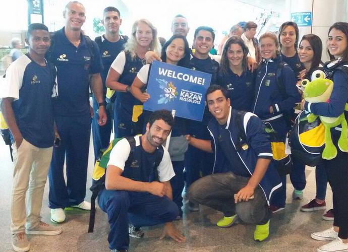 Equipe brasileira de saltos ornamentais Mundial de Kazan (Foto: Reprodução / Instagram)