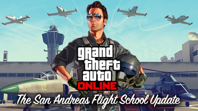 Novo DLC San Andreas Flight School trará novos aviões e mais para GTA 5 (Foto: Divulgação)