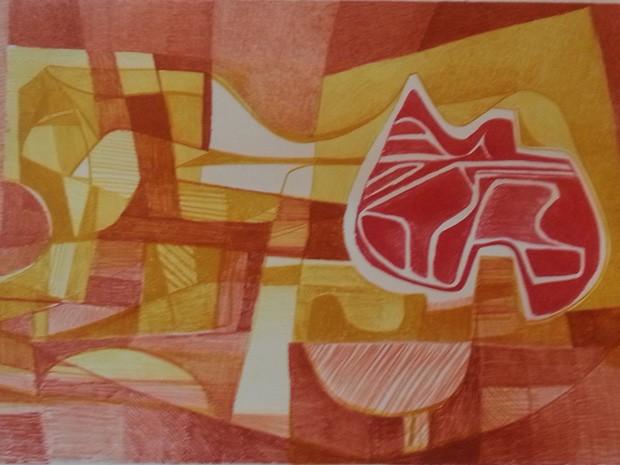 Obras de Burle Marx compõem exposição em homenagem aos 106 anos do artista (Foto: Burle Marx / Reprodução)