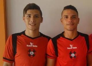 Davyson, Davyd e Jefferson Abreu - irmãos e primo vão jogar Série D do Brasileiro pelo Moto Club (Foto: Divulgação / Moto Club)