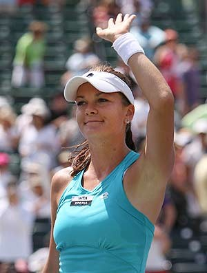Agnieszka Radwanska tênis Miami quartas (Foto: Agência AP)