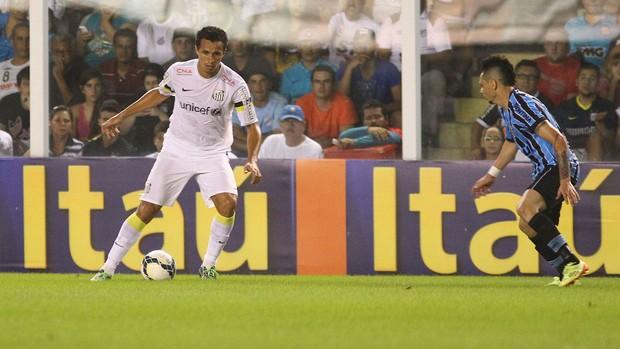 Leandro Damião e Pará Santos x Grêmio (Foto: Mauricio de Souza / Ag. Estado)