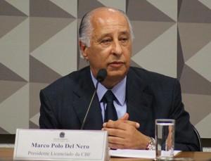 Del Nero CPI Romario (Foto: Lucas Magalhães)